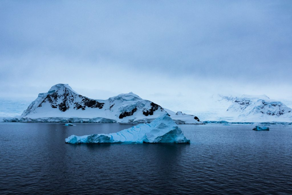 Antartica cold blue ice